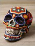 huichol beaded skull 1